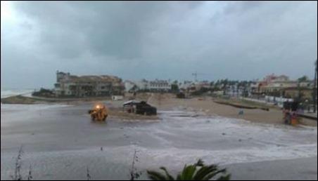 la zenia beach storm